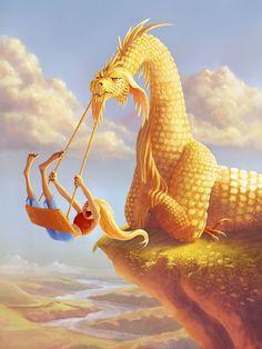 Dragon swing  #dragon #art #drawing