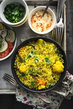 Mixed vegetable tahari is popular North Indian rice dish cooked with vegetable. Click on the link to learn how to make best one pot meal-veg tahari
