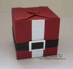 Santa Gift Box Punch Board from the Stampin' Up! 2014 Holiday Catalogue.