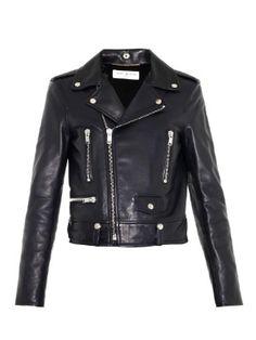 Classic navy biker jacket   Saint Laurent   MATCHESFASHION.COM UK