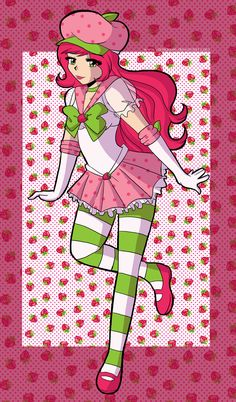 Strawberry Shortcake Request by rm-tosca on DeviantArt Strawberry Shortcake Skewers, Homemade Strawberry Shortcake, Strawberry Shortcake Characters, Strawberry Cheesecake, Fanart, Anna Blue, Rainbow Brite, Sailor Moon Crystal, Cool Cartoons
