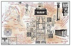 Rene Belloq's Map Room Drawing Prop Indiana Jones Raiders of The Lost Ark ROTLA   eBay