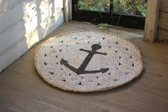 round mat with anchor  $49.00