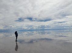 Mi sueño reflejado en un espejo, Salar de Uyuni, Bolivia...