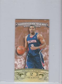 2008-09 Topps Treasury Mini Exclusives #MEJJ Joe Johnson #D/99 this the first one made 01