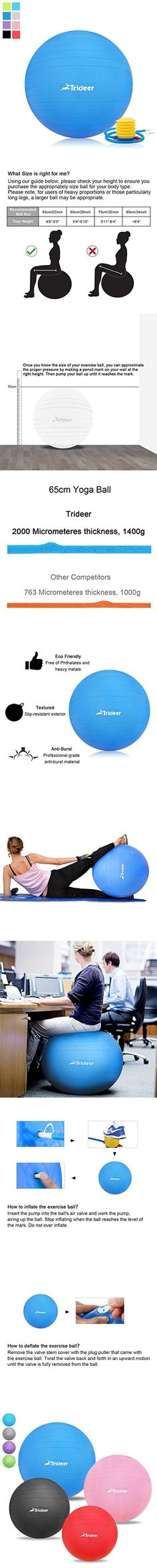 Yoga Ball 65cm with Resistance Straps The Biggest Loser Gym Ball Fitness Ball