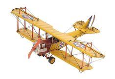 1918 Yellow Curtiss Model Plane,model plane,Adley & Company Inc.