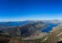 Dal monte #Monte #Lovćen, #PanoramaTop sulle città di #Tivat e #Kotor [@lusticabay via Twitter]