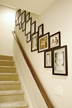 A unique way to style your gallery wall!  See it @ThriftyDecorChick