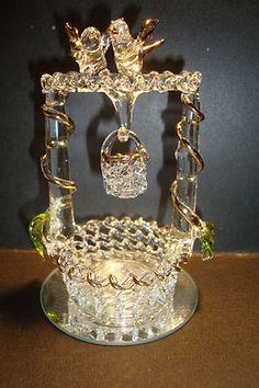 Genuine Handmade Medium Spun Glass Wishing Well Figure Ornament NM3 UK Seller | eBay