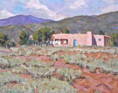 Gary Michael Adobe in New Mexico Landscape #Impressionism