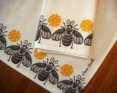 Honey Bee Towel Illustration Design