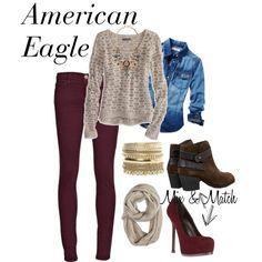 American Eagle :-)  This is their style from here.  Mollie is a Small or a 0  and Caroline is a 4 or 6 and Medium
