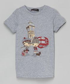 Look what I found on #zulily! Gray Girls in London Tee - Girls by Scandal #zulilyfinds