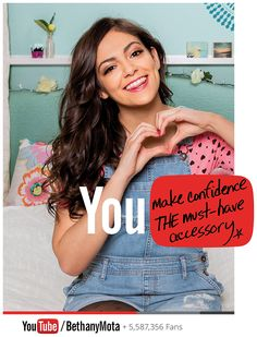 Bethany Mota, DIY & Everyday Inspiration All-Star youtube.com/BethanyMota