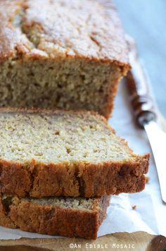 Classic Banana Bread Recipe on Bread Board Sugar Free Banana Bread, Best Banana Bread, Banana Bread Recipes, Breakfast Recipes, Dessert Recipes, Desserts, Breakfast Ideas, Great Recipes, Favorite Recipes