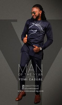 PHOTOS: Yomi Casual unveils Man of the Year collection modeled by celebs African Attire, African Wear, African Women, African Dress, African Style, African Fabric, Nigerian Men Fashion, African Print Fashion, Africa Fashion