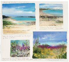 Amanda Hoskin - The Artist's Journey: A Sketchbook of Cornwall Travel Sketchbook, Watercolor Sketchbook, Artist Sketchbook, Watercolour Paintings, Sketchbook Ideas, Drawing Artist, Sketch Painting, Sketchbook Inspiration, Watercolours