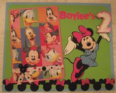 For an 8x10 frame, Minnie Mouse birthday