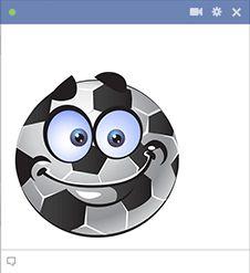 Εάν είστε αθλητικός τύπος, μπορείτε να αναδείξουν την αθλητική τα ενδιαφέροντά σας, δημοσιεύοντας αυτό μπάλα ποδοσφαίρου χαμογελαστό πρόσωπο στην επόμενη θέση σας.