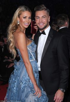 'What I did wasn't as bad': Olivia Attwood threw shade at Chris Hughes (pictured together in London, January 2018) over Katie Price scandal but she claimed they could 'try again'