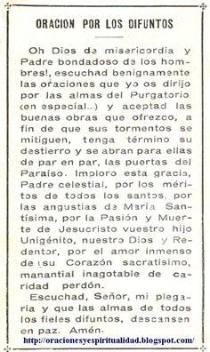 oraciones dinero | Oración por LOS DIFUNTOS...