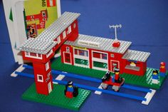 Lego 148 Nostalgie Central Station Bahnhof+Stellwerk mit Anleitung