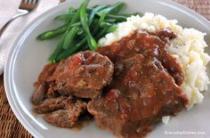 We updated this classic dinner recipe with fresh ingredients. Slow cooker Swiss steak is a great weeknight meal—just prep it, then forget about it!