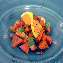 Recipe for Charred Carrot Salad - perfect for fall
