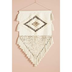 Anthropologie Ulla Embroidered Wall Art ($238) ❤ liked on Polyvore featuring home, home decor, wall art, woven wall art, anthropologie and anthropologie home decor