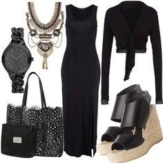 Maxikleid Black Emotion #fashion #mode #look #outfit #style #stylaholic #sexy #dress