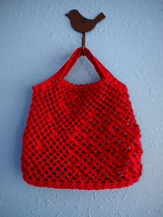 Red Crocheted Bag no.2