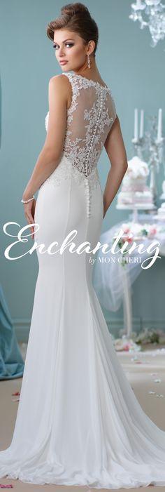 Enchanting by Mon Cheri Spring 2016 ~Style No. 116143 #laceweddingdresses