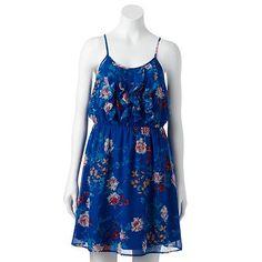 ELLE™ Floral Ruffle Dress - Women's
