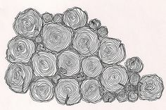 Tree Rings -- would love to see a portion of the trunk with just barely a view of the rings