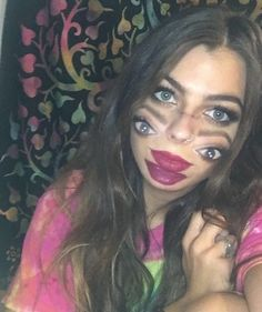 this halloween makeup will have you seeing double halloween from brit co pinterest halloween makeup makeup and costumes