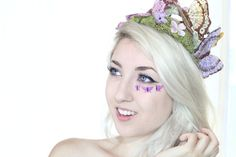 Pastel Butterfly Crown  Bridal fairy by Frecklesfairychest on Etsy, $55.00-OMG I WANT TO MAKE THIS