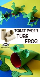 Heartfelt Balance Handmade Life: 18 Colorful & Fun Cardboard Tube Crafts for Kids Cardboard Tube Crafts, Toilet Paper Roll Crafts, Craft Activities, Preschool Crafts, Children Activities, Projects For Kids, Crafts For Kids, Tube Carton, Frog Crafts