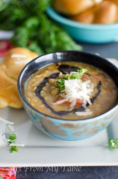 Thrive at Five Meal Plan- Week 7- healthy lentil soup, ham frittata, sheet pan chicken, pizza soup, dukkah salmon, icebox cookies, tangerine mimosa