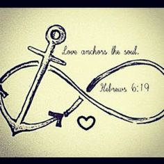"Cute! But Hebrews 6:19 actually says, ""We have this hope as an anchor for the soul, firm and secure. It enters the inner sanctuary behind the curtain."""