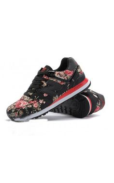 big sale 35ea4 0672a New Balance Running Shoes NB574 Retro Mesh Black Red WomensOutlet