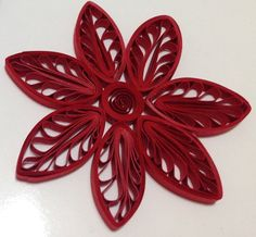 Quilling Flowers using a hair comb
