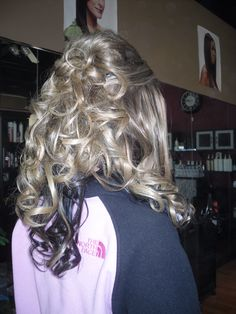 Prom Updo! By Bule at Our Salon! #updo #prom #curls #homecoming
