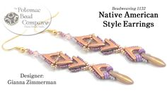 "This Potomac Bead Company tutorial teaches you how to make Gianna Zimmerman's ""Native American Style"" earrings, using Potomac Bead Company's new AVA Bead. Fi..."