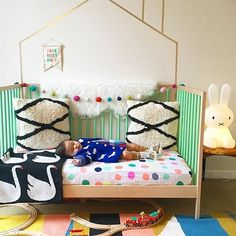Ah! Check out this cutie pie napping like a champ on our new Oh Joy for Target dotty sheets! For those of you who have been patiently waiting, I'm excited to tell you the #OhJoyforTarget nursery collection is NOW available online at target.com/ohjoy (and will be in select stores by Sunday). Thanks @tinykaper for sharing your photo... the cuteness here is beyond )