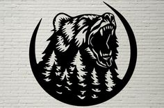 Bear Stencil, Animal Stencil, Animal Silhouette, Silhouette Art, Soldier Silhouette, Wood Burning Patterns, Wood Burning Art, Skull Art, Pyrography