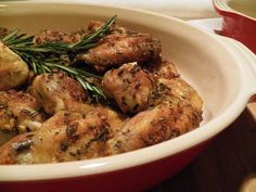 Rosemary Garlic Wings from In Good Flavor