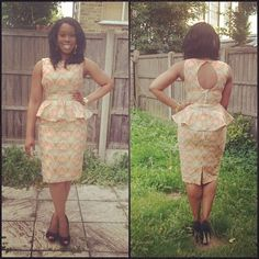 Peplum ankara dress
