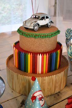 detalhes feitos a mão para festa de fusca Handmade items for the Beetle party