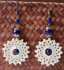 crochet earrings by ginaska Crochet Jewelry Patterns, Crochet Earrings Pattern, Crochet Bracelet, Crochet Accessories, Crochet Jewellery, Tatting Earrings, Tatting Jewelry, Beaded Earrings, Beaded Jewelry